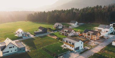 birds eye view of developed community
